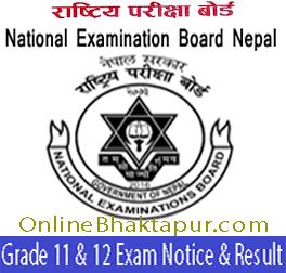 Grade 12 examination from home center